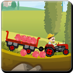 Use the arrow keys to navigate the tractor and Space button to unload or disconnect the tractor