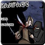 destroy the evil ninjas and finish the level