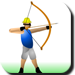 Test your shooting skill by shoot the apple in your friends head .