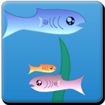 Catch the little fish to grow and avoid from the big fish from being eaten